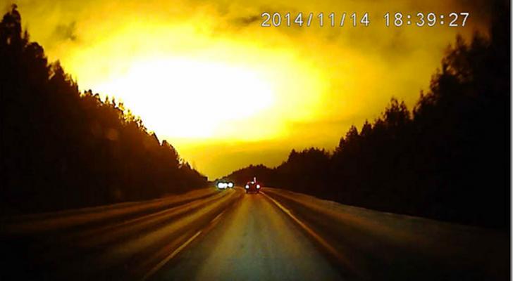 Un misterioso resplandor en el cielo de Rusia