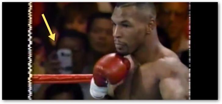 Un viajero en el tiempo aficionado al boxeo